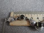 Серебряное ожерелье с камнями ( серебро 800 пр, вес 11,8 гр), фото №6