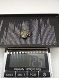 Кулон незабудки серебро 925, фото №3