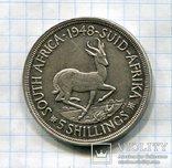 Британская Южная Африка 5 шиллингов (Крона) 1948 Георг VI, фото №2