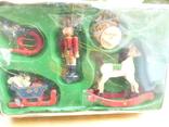 Елочные игрушки  винтаж - дерево - германия, фото №4