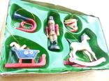 Елочные игрушки  винтаж - дерево - германия, фото №5