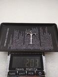 Кулон подвеска серебро 925 покрытие родий, фото №5