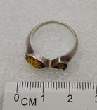 Кольцо серебро янтарь, фото №3