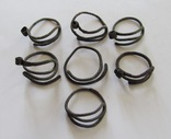 Височные кольца КР, 7шт., бронза, фото №6