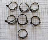 Височные кольца КР, 7шт., бронза, фото №7