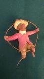 Ялинкова прикраса: Циркова мавпа, вата, 30-40-ві рр., фото №2