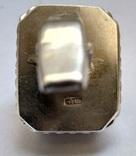 Запонки с камнями, серебро 875 (звезда) ссср, фото №6
