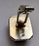Запонки с камнями, серебро 875 (звезда) ссср, фото №7