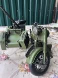 Металлическая модель военного мотоцикла  1939  г, фото №2