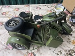 Металлическая модель военного мотоцикла  1939  г, фото №4