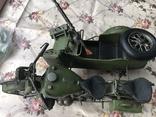 Металлическая модель военного мотоцикла  1939  г, фото №6