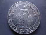 1 торговый доллар 1912 Великобритания  серебро  (Ж.3.16)~, фото №2