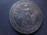 1 торговый доллар 1912 Великобритания  серебро  (Ж.3.16)~, фото №3