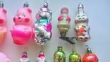 Ёлочные игрушки СССР стекло-19 шт., фото №8