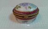 Фарфоровая шкатулочка ---ручная роспись, фото №3