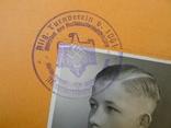 Шитый спортивный знак RJA с документом. Спортивный знак молодежи Рейха (RJA), фото №5