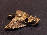 Череп с крыльями бронза брелок коллекционная миниатюра, фото №6