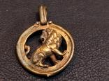 Лев бронза брелок кулон коллекционная миниатюра, фото №6
