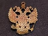 Орел Двухглавый брелок бронза коллекционная миниатюра, фото №6