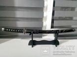 Японский самурайский меч катана со стойкой для меча. Сувенирная сабля., фото №2