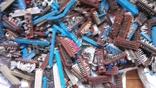 Посеребрянка 11.5 кг,разъёмы,контакты,переключатели и др., фото №2