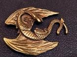 Дракон большой коллекционная миниатюра брелок бронза, фото №2