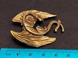 Дракон большой коллекционная миниатюра брелок бронза, фото №7