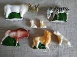 Зоопарк Осташевская фабрика игрушек Саванна СССР полный комплект этикетки коробка, фото №6