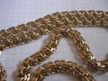 Золотая цепь Бисмарк 583 пробы вес 99.3 гр., фото №5