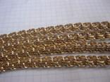 Золотая цепь Бисмарк 583 пробы вес 99.3 гр., фото №6