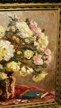 """""""Натюрморт с книгой"""",довоенная работа,х/м.,80×70 см., фото №5"""