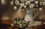 """""""Натюрморт с белыми розами"""" 50х60 см, х/м, Костенко А.С., фото №5"""