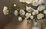 """""""Натюрморт с белыми розами"""" 50х60 см, х/м, Костенко А.С., фото №6"""