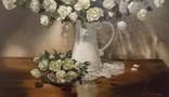 """""""Натюрморт с белыми розами"""" 50х60 см, х/м, Костенко А.С., фото №7"""
