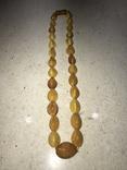 Янтарные бусы 38 грамм, фото №9