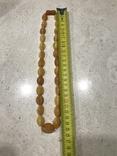 Янтарные бусы 38 грамм, фото №10