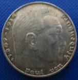 Німеччина 2 марки 1939 рік (J)