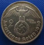 Німеччина 2 марки 1939 рік (J) фото 2