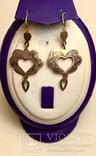 Винтажные серебряные серьги кубачи, фото №2