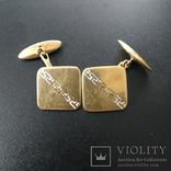 Запонки золотые(золото-750''),Италия. Вес-6,41 гр., фото №3