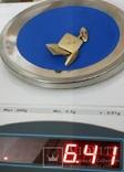 Запонки золотые(золото-750''),Италия. Вес-6,41 гр., фото №4