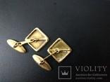 Запонки золотые(золото-750''),Италия. Вес-6,41 гр., фото №7