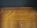 """Муж.бумажник,портмоне СССР """"Рига"""" нат.кожа 17/11см., фото №5"""