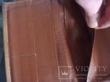 """Муж.бумажник,портмоне СССР """"Рига"""" нат.кожа 17/11см., фото №8"""