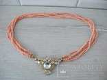 Ожерелье коралл Angel skin вес 34,4 гр, фото №2