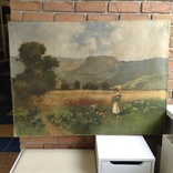 """Картина """" Дама на прогулянці """" художник А. Неограді., фото №2"""