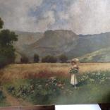 """Картина """" Дама на прогулянці """" художник А. Неограді., фото №3"""