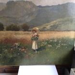 """Картина """" Дама на прогулянці """" художник А. Неограді., фото №4"""
