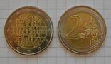 Португалия 2 евро, 2018, 250 лет Национальной прессе, фото №2