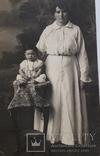 """Старинная фотография """"Мать с ребенком"""" (9*13.8), фото №3"""